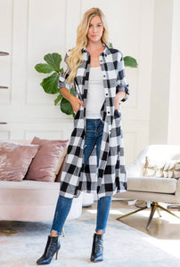 Plaid Duster
