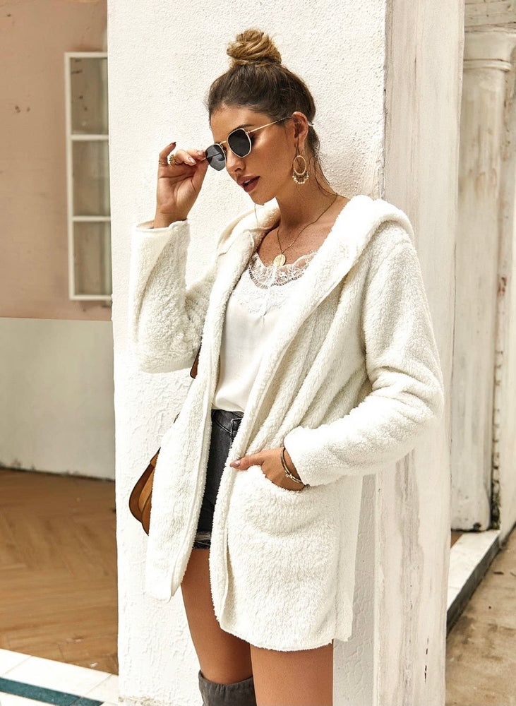 Plush Cream Coat