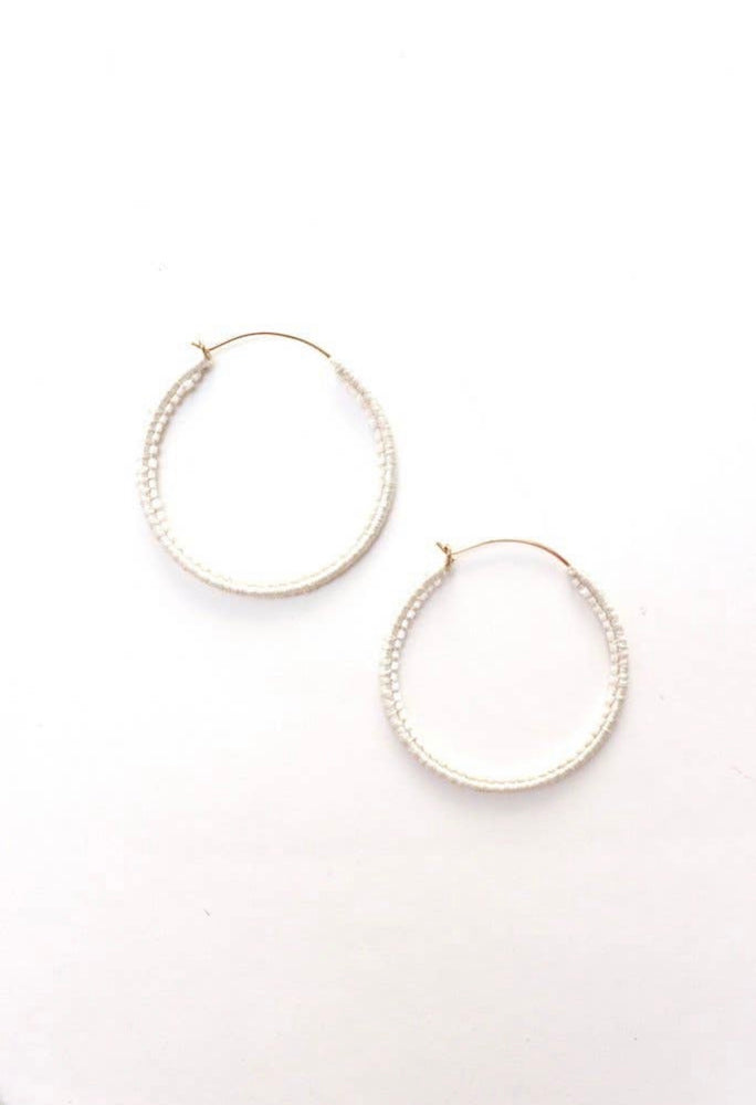 Crystal Thread Hoop Earrings