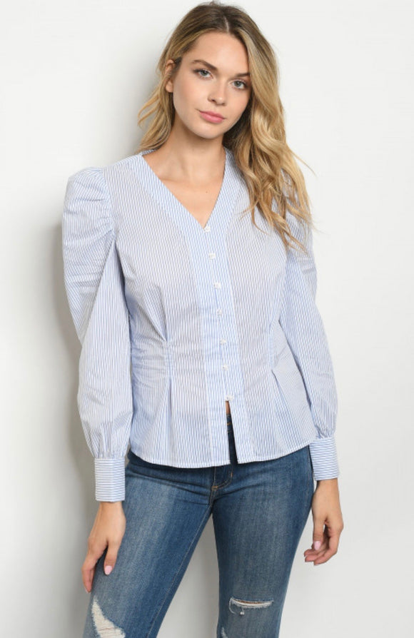 Pin Striped Button Up