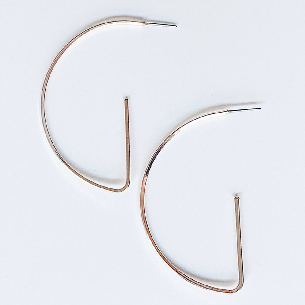 Rose Gold Half Hoops