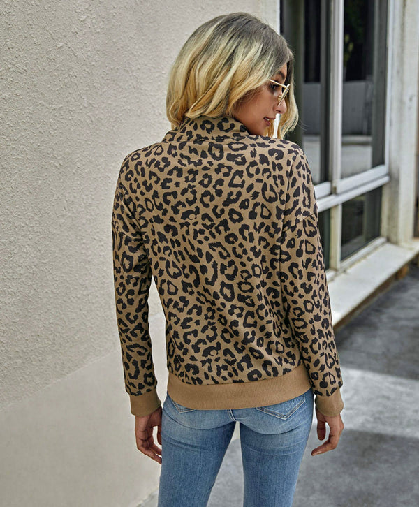 Athletic Leopard Pullover