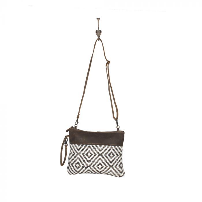 Leather Diamond Pattern Crossbody