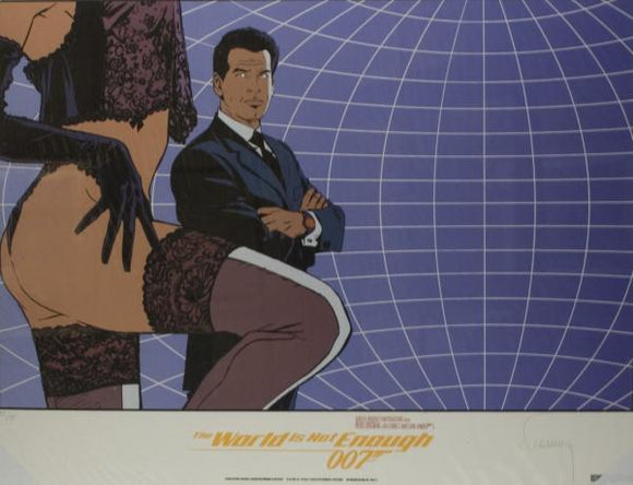 affiche FRANCQ James Bond - The world is not enough (bleu)