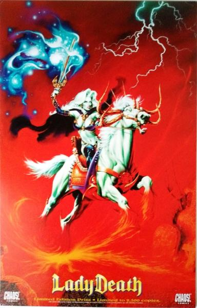 Lady Death Fire Horse limited edition print