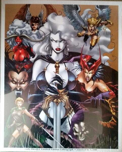 Lady Death limited edition lithograph