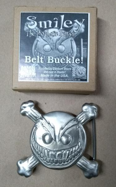 Smiley The Psychotic Button Belt Buckle