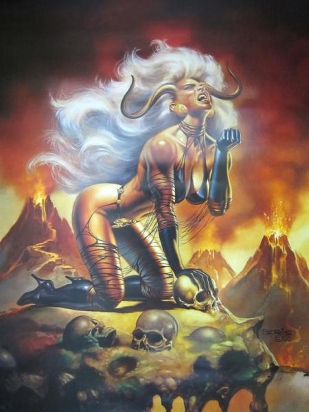affiche VALLEJO Lady Demon