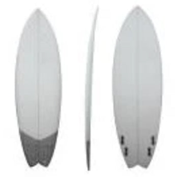 Epoxy Surfboard, Carbon Net Swallow Tail, 8'