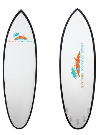 Epoxy Surfboard, Fish Tail, 6'6