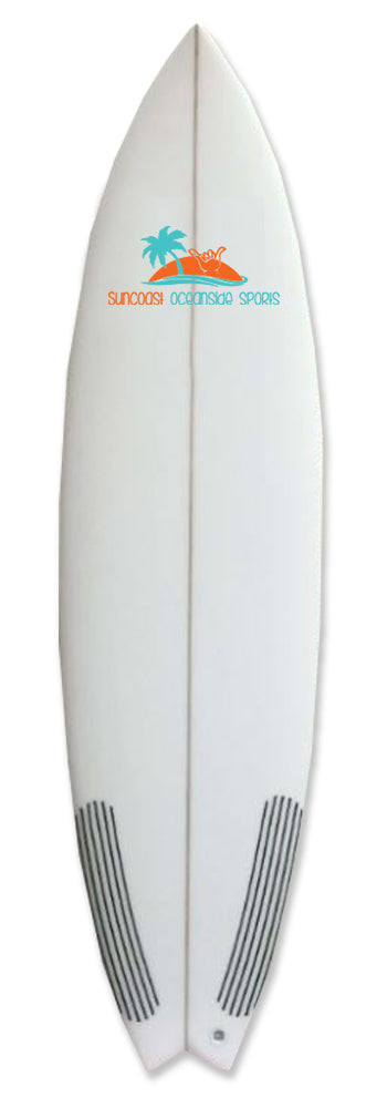 Epoxy Surfboard, Carbon Fiber Swallow Tail, 6'6