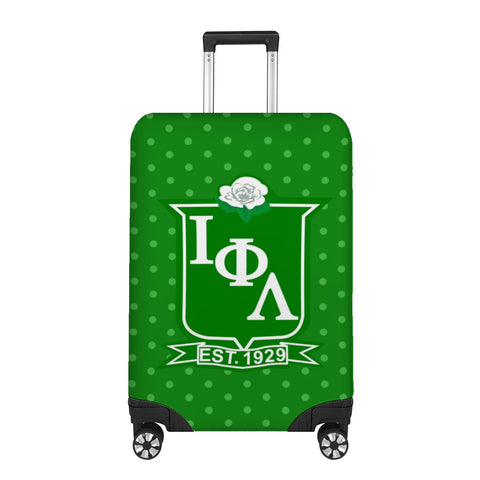Iota Green Polka Dot Luggage Cover