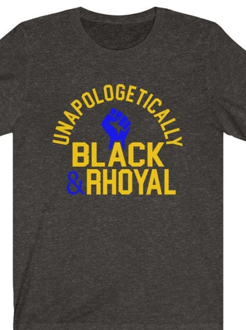 Unapologetically Black & Rhoyal Jersey Tee