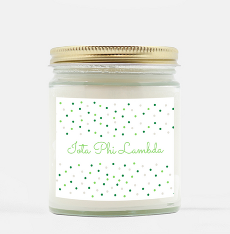 Iota Phi Lambda 9 oz. Hand Poured Scented Candle