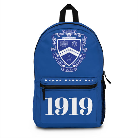 ΚΚΨ Dark Blue Crest Backpack