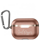 Goal Digger Leather Airpod Pro Case - Electroplated
