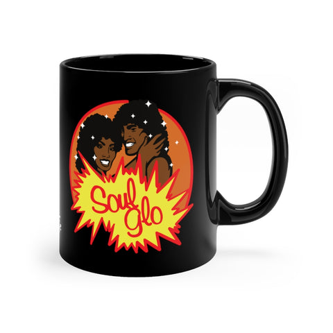 """Soul Glo"" Black Mug 11oz"