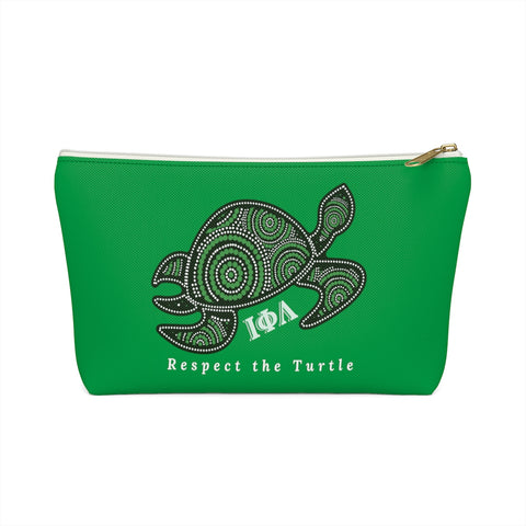 Respect the Turtle Accessory Pouch w T-bottom