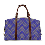 Royal Blue & Gold Plaid Travel Bag