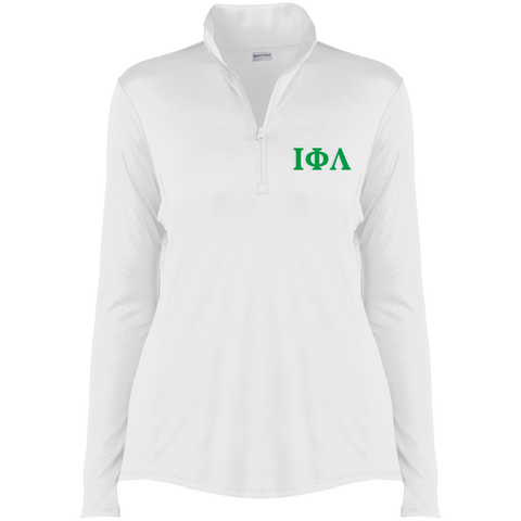 Embroidered Iota Phi Lambda Greek Lettered 1/4-Zip Pullover