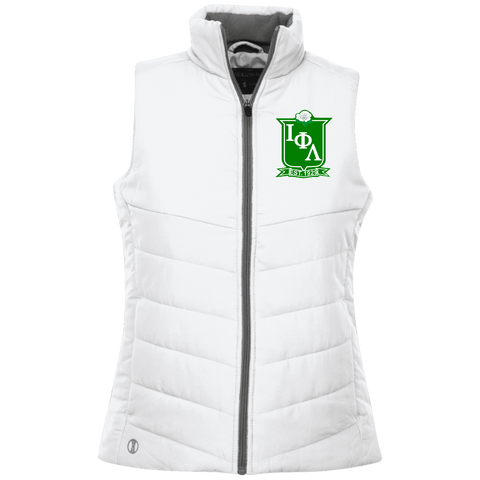 Embroidered Iota Phi Lambda Crest Quilted Vest