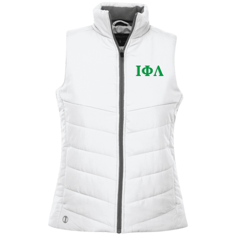 Embroidered Iota Phi Lambda Greek Lettered Quilted Vest