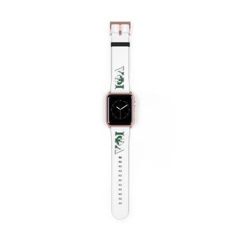 Iota Phi Lambda Greek Letter White Watch Band