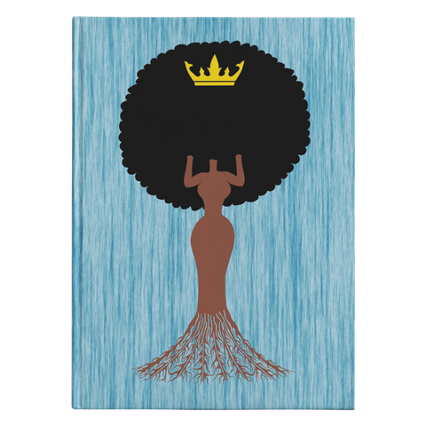 Roots Hardcover Journal (Blue Grain)