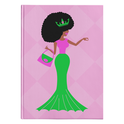 Pink & Green Afro Sis Hardcover Journal
