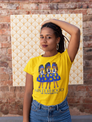 Blue & Gold - Sisterhood is Powerful - Jersey Tee