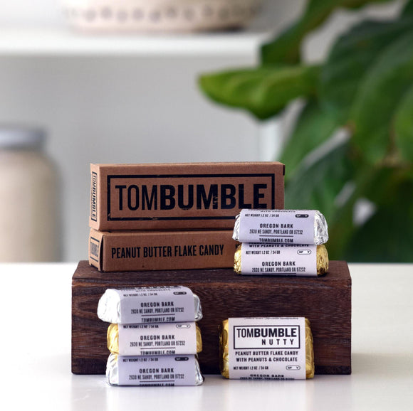 Chocolates,  Nutty or Smooth Peanut Butter, Tom Bumble (Vegan, GF, Organic)