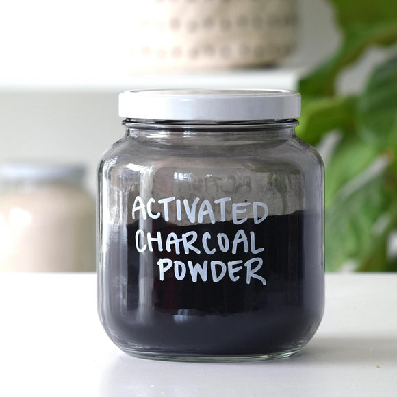 Activated Charcoal Powder Jar