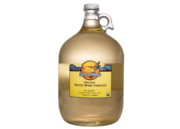 Vinegar, White Wine, Organic, 1 Gallon HB