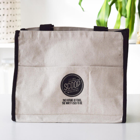 Tote Bag, Scoop Logo