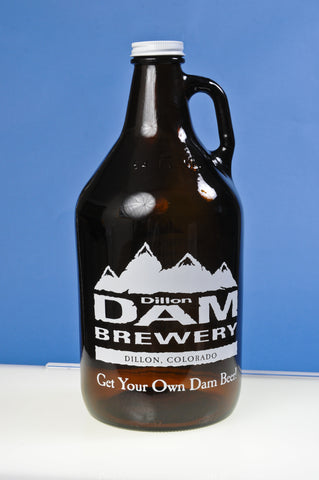 Dillon Dam Brewery Get Your Own Dam Beer 64 oz. Glass Growler