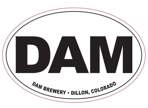 "Large 4"" x 6"" DAM Bumper Sticker"