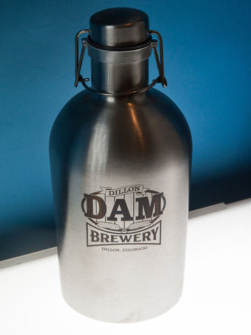 Dam Sign Logo<br>Stainless Steel Growler