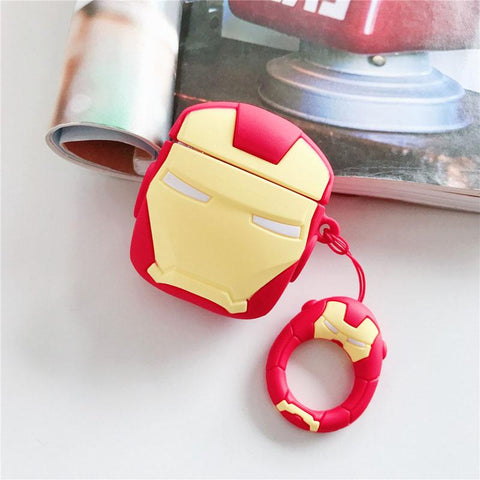 coque airpods iron man