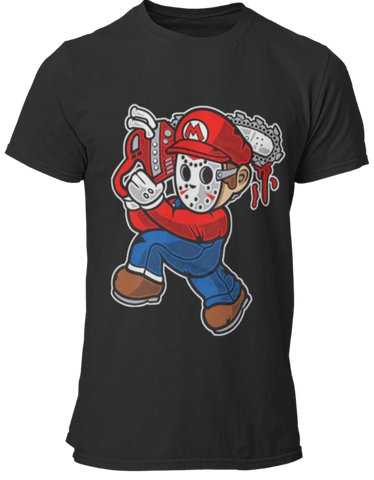 T Shirt Gamer <br> Mario Film d'Horreur