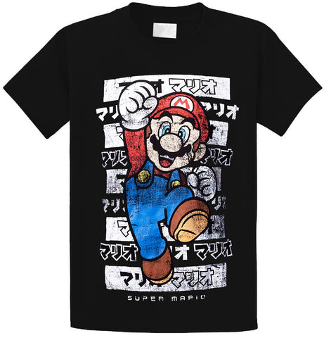 T Shirt Gamer <br> Super Mario Japon