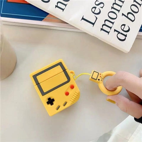 coque airpods gameboy jaune