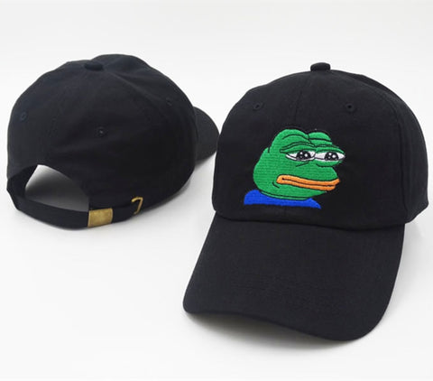 casquette pepe the frog noir