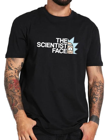 t shirt rick the scientist face