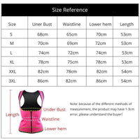 Vest Waist Trainer (Neoprene) Zipper Only | Waist Trainer - Foxxychick