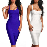 V-Neck Bodycon Bandage Dress | Sexy Dresses - Foxxychick
