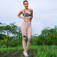 Two Piece Set Camouflage Print Sports Bra and Pants | Sportswear - Foxxychick