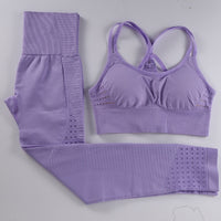 Two Piece Set Breathable Sports Bra and Pants | Sportswear - Foxxychick
