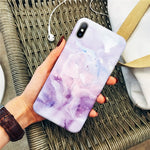 Granite Stone Marble Texture Cover For Phone X XS Max - Actual Phone Case