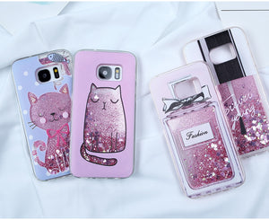 Case For Samsung Galaxy S8 S9 S10 Plus Liquid Glitter Dynamic Cases - Actual Phone Case