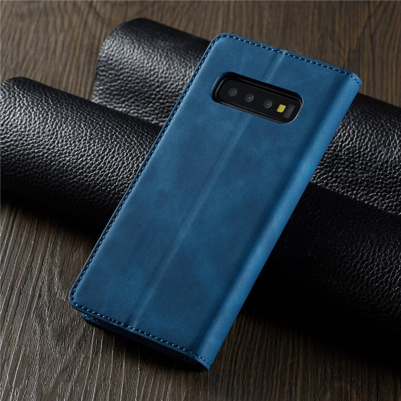 A80 A90 Case For Samsung S8 S9 S10 Plus 2018 Note 9 10 Magnet Cover - Actual Phone Case